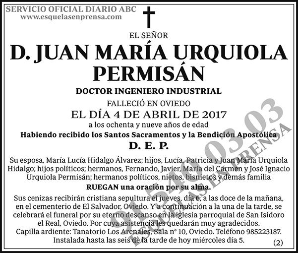Juan María Urquiola Permisán